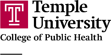 Temple University College of Public Health logo