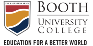 Booth University College logo